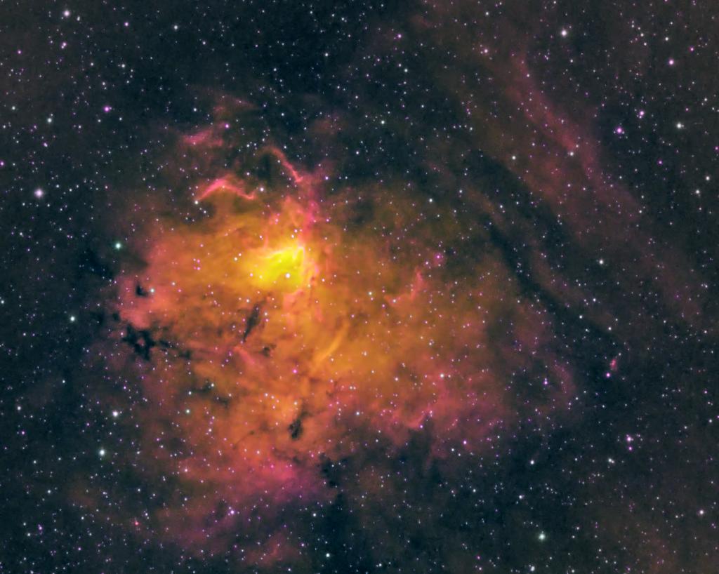 NGC 1491 - HOS Palette