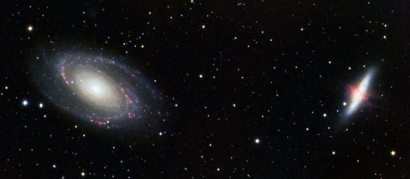 Bode's Galaxy and Cigar Galaxy (M81 M82)