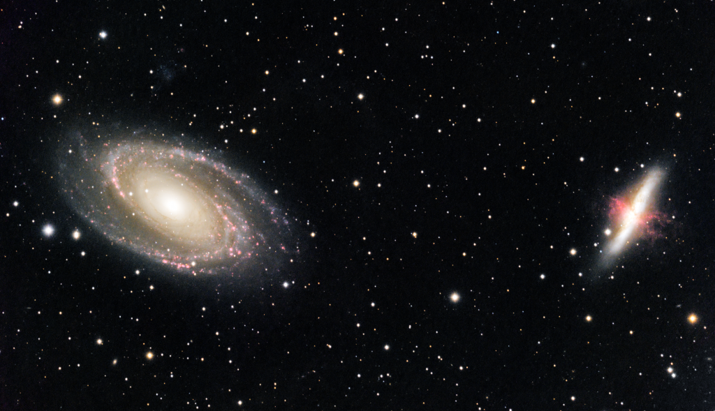 Bode's Galaxies (M81, M82)