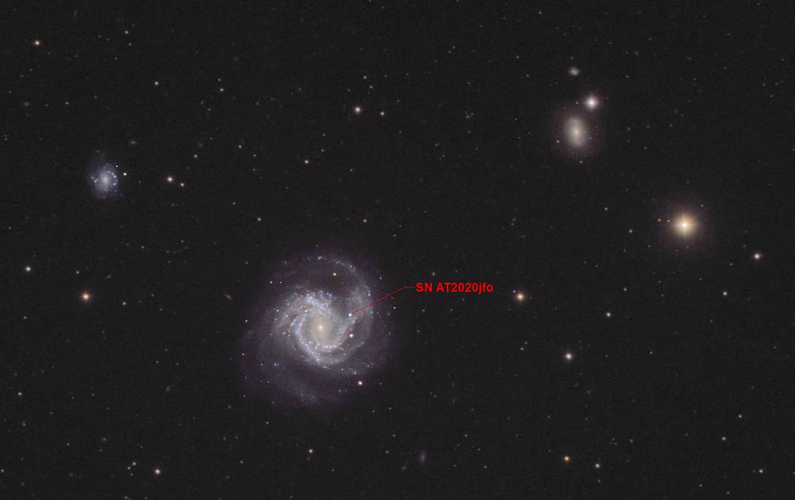 M61 with supernova
